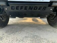 Gloss Black DEFENDER Steering Sump Guard 5mm Steel - Land Rover 90 110 130
