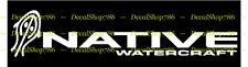 Native WaterCraft Kayak II - Outdoor Sports - Vinyl Die-Cut Peel N' Stick Decals