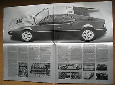 BMW M1 sports car  BROCHURE MANUAL PARTS english text