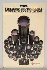 """Leica Advertising Sign for R System R3 & Lenses 22.75x15""""  #42255"""