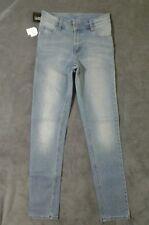 NEW W27 L32 CHEAP MONDAY blue slim leg jeans 'Tight Crosshatch' vintage designer