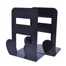 Metal Nonskid Bookends Folders Documents Magazines Musical Note Organizer