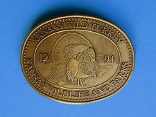 WILD TURKEY Belt Buckle - NEW RARE 1994 Kansas State Wildlife Parks Tom Hunting