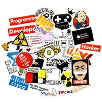 40 Pcs SQL Programming Geek Hacker Stickers For Laptop Phone Skateboard Bicycle