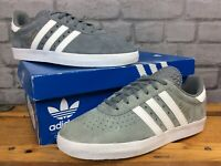 ADIDAS MENS UK 8 EU 42 ORIGINALS 350 GREY SUEDE WHITE GOLD TRAINERS RRP £70 LD