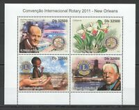 BC948 2011 S.TOME & PRINCIPE ROTARY CONVENTION NEW ORLEANS LIONS NATURE KB MNH