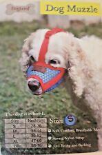 New Doglemi Adjustable Nylon Dog Muzzle.Size Small.Red & Blue.Please Read!