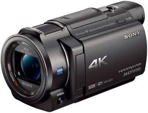 (Open Box) Sony Handycam FDRAX33/B 4K Camcorder - Black