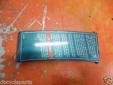 POLARIS 1994 94 INDY LITE DELUXE HOOD DASH COVER PANEL WARNING