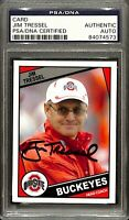 Jim Tressel Signed Ohio State Buckeyes Football Card PSA/DNA