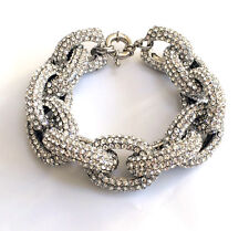 Butler and Wilson Clear Swarovski Crystal Chunky Link Pave Bracelet NEW
