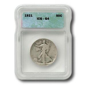 United States Key Date Walking Liberty Half Dollar 50¢ 1921 P ICG  Good 4