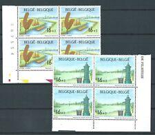 BELGIUM 1995 MUSEUMS PAIR MNH BLOCKS 4 CATGB£11.20