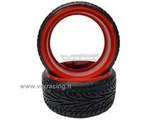 COPPIA DI GOMME DRIFT SCOLPITE 1/10 ON ROAD TIRE-002-B DRIFTING TYRES 2PCS VRX
