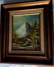 G WHITMAN Art Oil On Canvas Painting Original Landscape Signed Framed 14x16