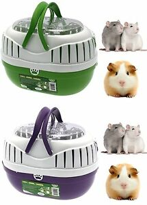 #Small Animal Plastic Transport Carrier Travel Cage Hamster Gerbil Rat Ferret