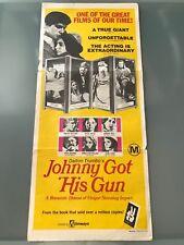 ORIGINAL DAYBILL POSTER 13x30: Johnny's Got His Gun (1971) Timothy Bottoms