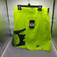 Nike Men's Challenge Court Andre Agassi Shorts Lime CK9775-363 Size Large