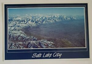Postcard - Snow Capped Mountain View: Salt Lake City, Utah  Unposted / Unmarked