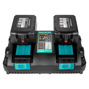 4A Rapid Dual Port Charger For Makita BL1830 BL1850 7.2V-18V Lithium ion Battery