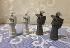 Harry Potter Wizard Chess 2002;  Black  White(Gray) Rooks Replacement Pieces