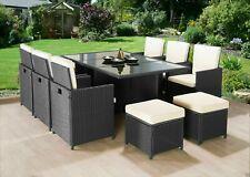 CUBO rattan sedie set di mobili da giardino divano tavolo da esterno da giardino in vimini 10 posti a sedere