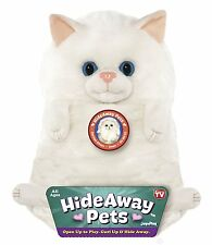 "Jay At Play 15"" Hideaway Pets Stuffed Animal White Persian Kitten Kitty Cat NEW"