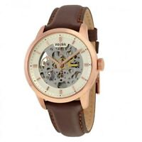 Fossil ME3078 Townsman Automatic Skeleton Dial Brown Leather Strap Men's Watch