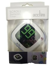 Acctim Scroll Multi Touch Screen Digital Fridge Magnetic Kitchen Timer 55132