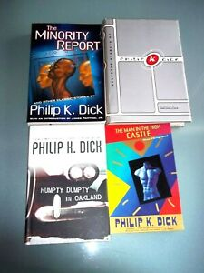 PHILIP K. DICK LOT~ MAN IN THE HIGH CASTLE, BIOGRAPHY, MINORITY REPORT ~ EX.COND