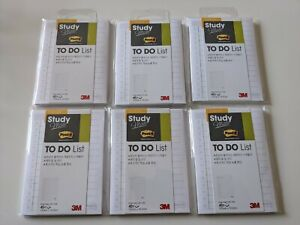 6 Post It To Do List Study Mate Sticky Notes