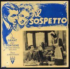 IL SOSPETTO Suspicion A.HITCHCOCK, CARY GRANT,  FOTOBUSTA 1 POSTER 1a ED. 1946!!