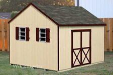 12' x 12' Gable Style Garden Storage Shed Plans / Building Blueprints # E1212
