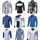 New Mens Fashion Luxury Casual Slim Fit Stylish Long Sleeve Dress Shirts Tops