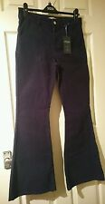 nwt marks and Spencer limited edition navy blue cord trousers size 8