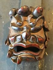 19th Cent Japanese Lacquered Wood Mask