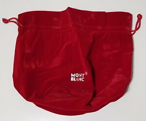 MONTBLANC VELVET RED DUST BAG - NEW - RARE