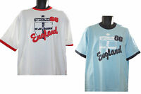 New Mens Gents England Euro Football T Shirt England 66 Sports Top - Blue White