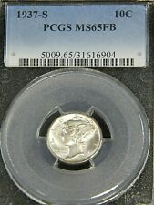 1937 S Mercury Dime PCGS MS65FB Blast White Full Bands Superb Luster PQ #G474