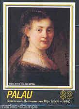 PALAU 400th BIRTH ANNIVERSARY OF REMBRANDT SOUVENIR SHEET MINT NEVER HINGED