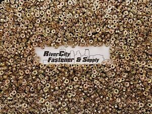 (50) Metric Serrated Flange M6-1.0 Hex Nuts Yellow Zinc grade 10.9 M6x1.0 / 6mm