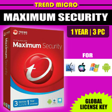 Trend Micro Maximum Security 2021 | 1 Year 3 Devices Windows Android Mac iOS