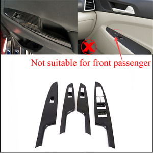 For Hyundai Tucson 2016-21 Carbon Fiber ABS Window Lift Switch Button Panel Trim