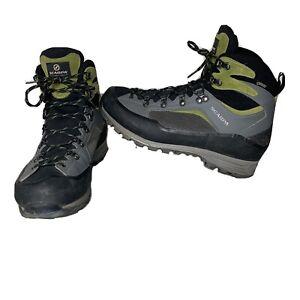 Scarpa R-evolution Trek GTX Mens Size 10 Hiking Boots Gray Green Walking Trail