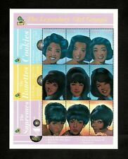 Ghana 2001 - SC# 2240 - The Supremes, Girl Groups 60s - Sheet of 9 Stamps - MNH