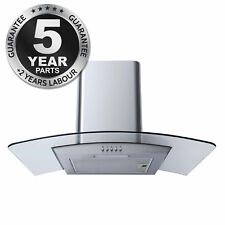 SIA CG71SS Stainless Steel 70cm Curved Glass Cooker Hood Extractor Fan