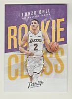 2017-18 Panini Prestige ROOKIE CLASS #2 LONZO BALL RC Los Angeles Lakers