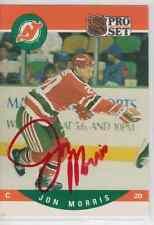 Autographed 90/91 Pro Set Jon Morris - Devils