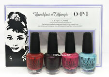 Nail Lacquer Opi MINI Breakfast At Tiffany's STYLE ICONS HRH25 -4 colors x3.75ml