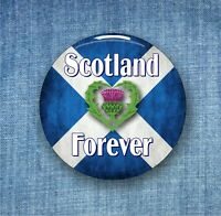 Scotland Forever, thistle - Large Button Badge - 58mm diameter